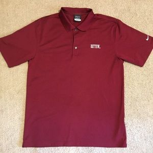 Nike Golf Medium Dri-Fit Burgundy Rettew Polo